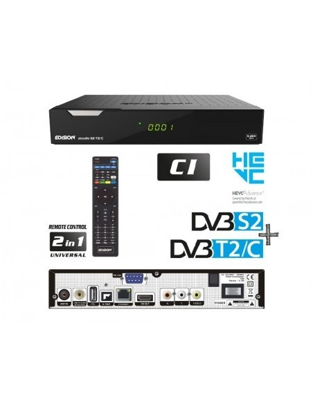 Receptor SAT (S2)+ TDT (T2)+ Cable,...